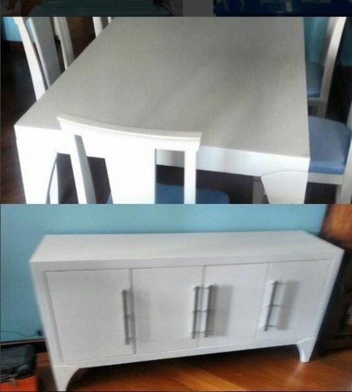 Laquear móveis branco